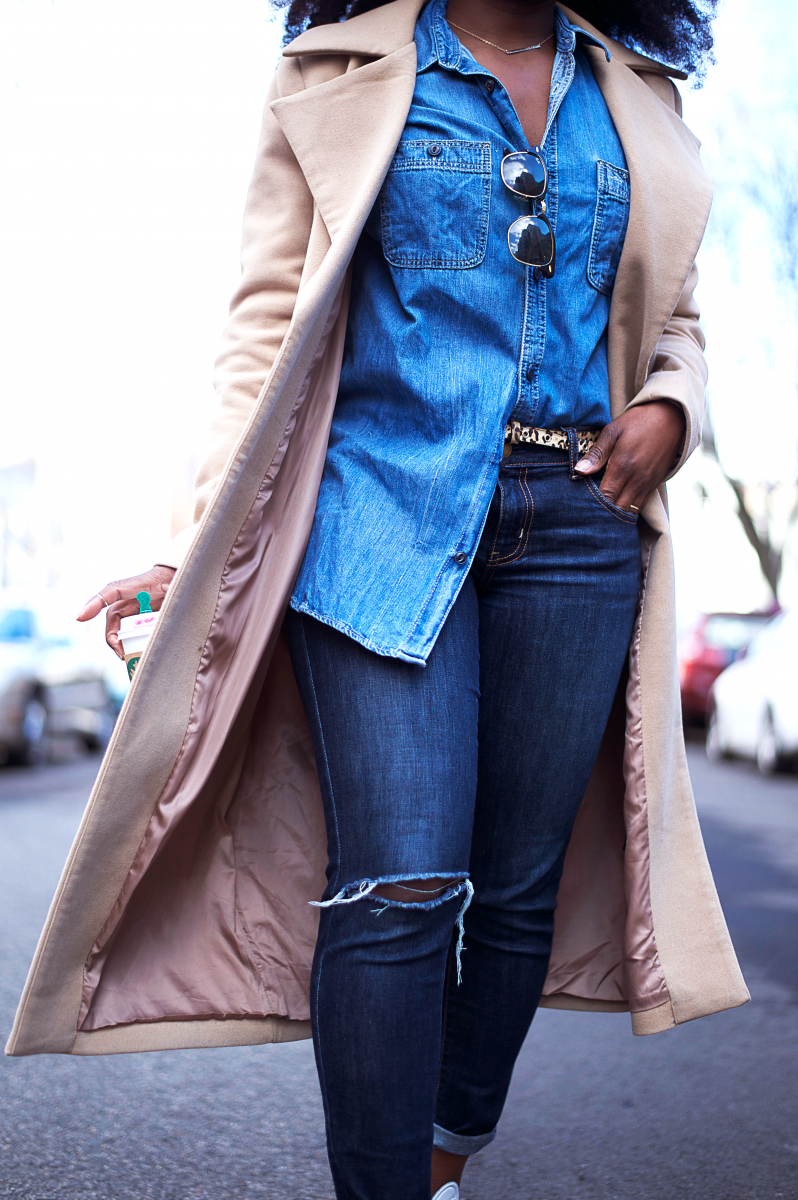 The-Glossier-Tasha-James-Top-Fashion-Blogger-Camel-Coat-Missguided-Denim-Canadian-Tuxedo-Gap-Adidas-Monochrome-12