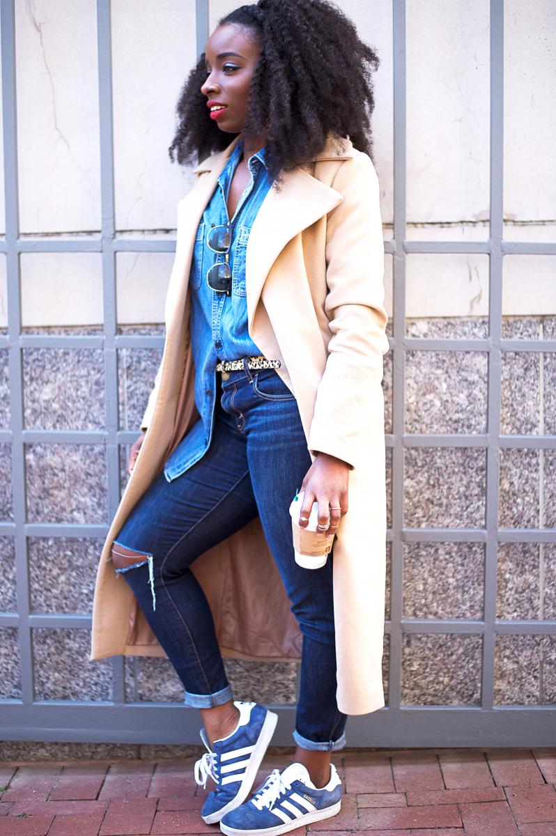 The-Glossier-Tasha-James-Top-Fashion-Blogger-Camel-Coat-Missguided-Denim-Canadian-Tuxedo-Gap-Adidas-Monochrome-16
