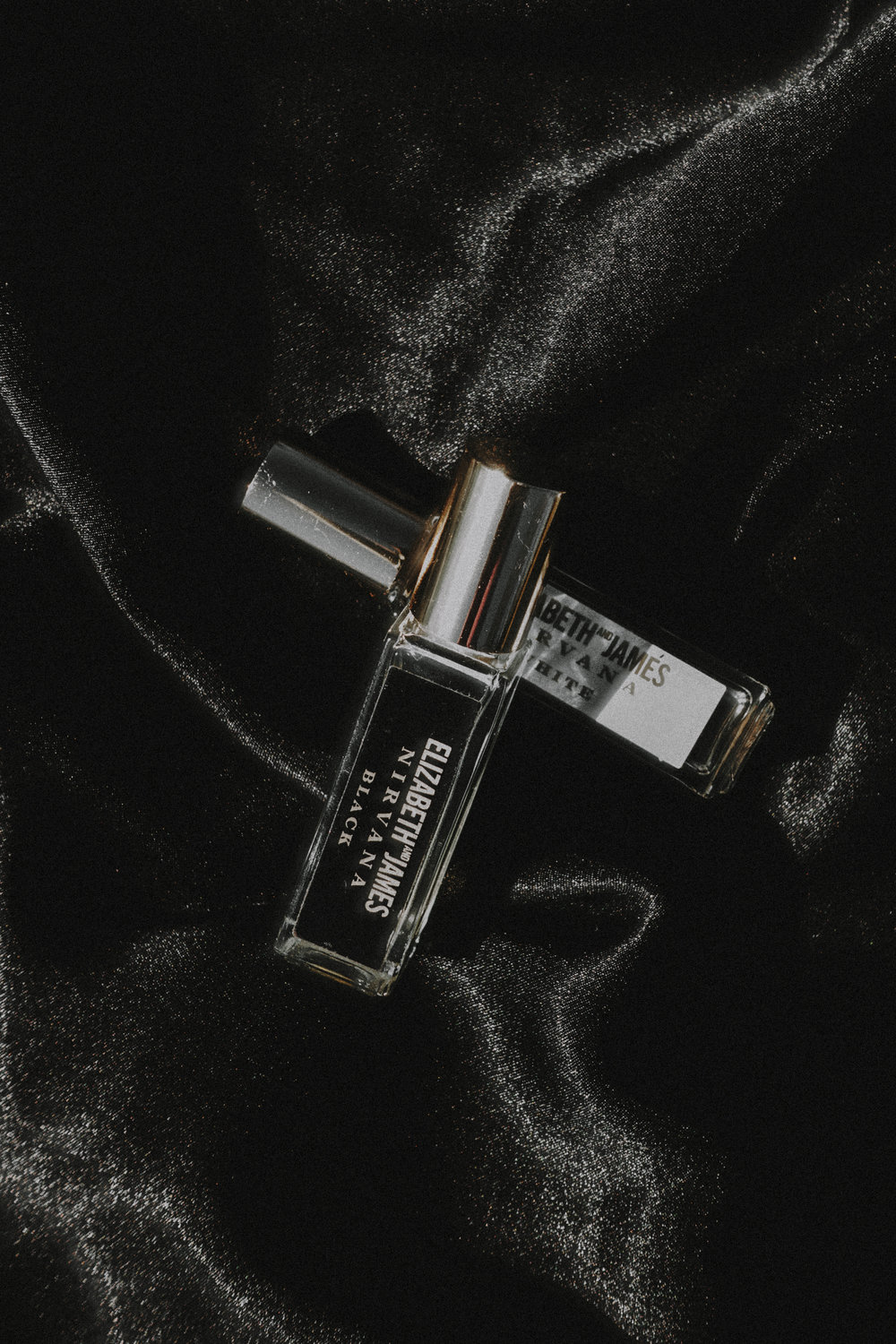 Incredible duo: Elizabeth + James - Nirvana White + Nirvana Black, Mini Rollerball Set - $25