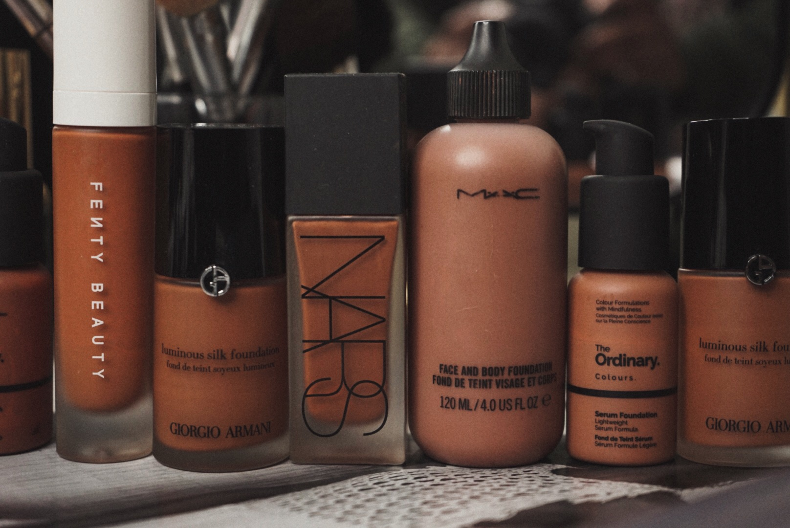 On My Makeup Table 5 Liquid Foundations I Love The Glossier