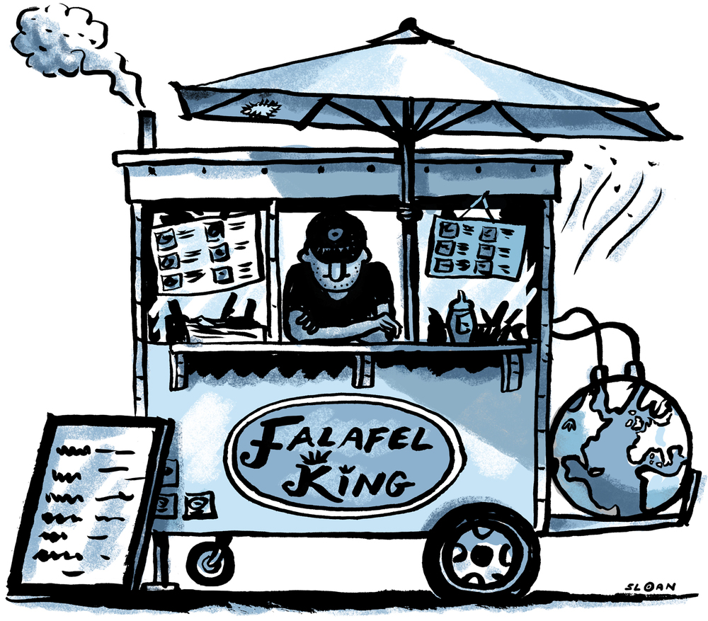 Food carts and their impact on the environment.