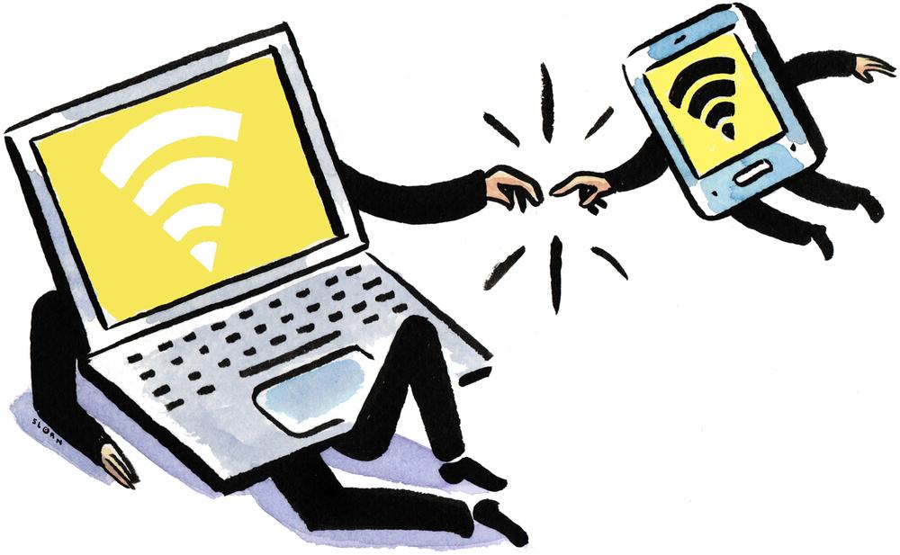 Wi-fi tethering.