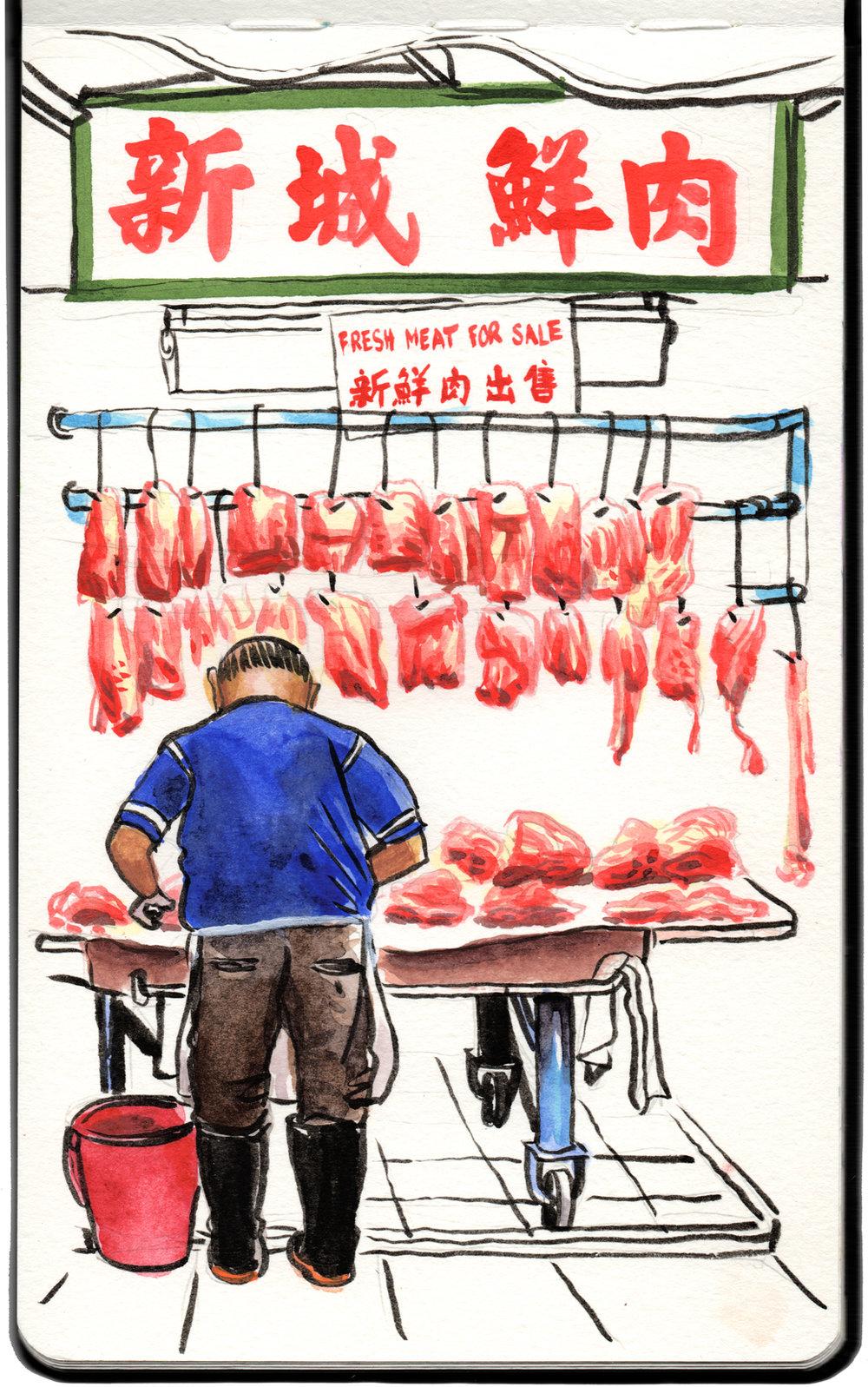 Butcher, Sheung Shui.