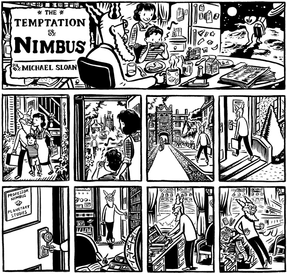The Temptation of Nimbus, panels 1-9.