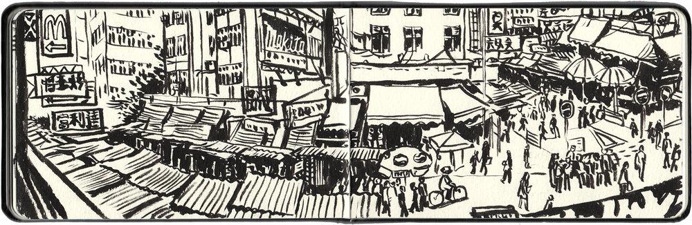 Apliu Street markets.