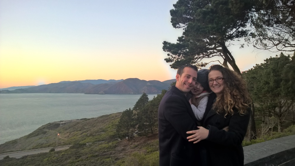 Family shot from the vista point during our post-feast stroll