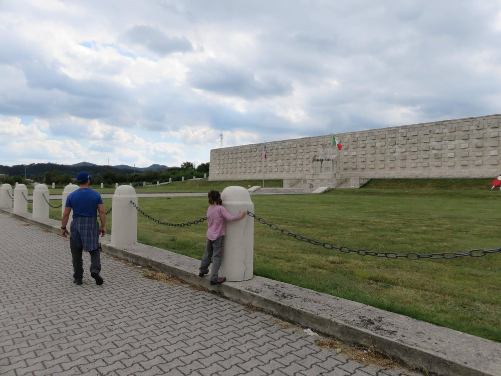 Large war memorial on the way to Monte Grappa