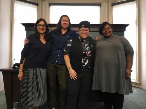 With poet Natalie Diaz, authors Gabby Rivera, and Renee Watson at PEN World Voices Festival in New York