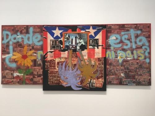 """""""Donde esta mi casa?"""" by Puerto Rican artist Juan Sanchez"""