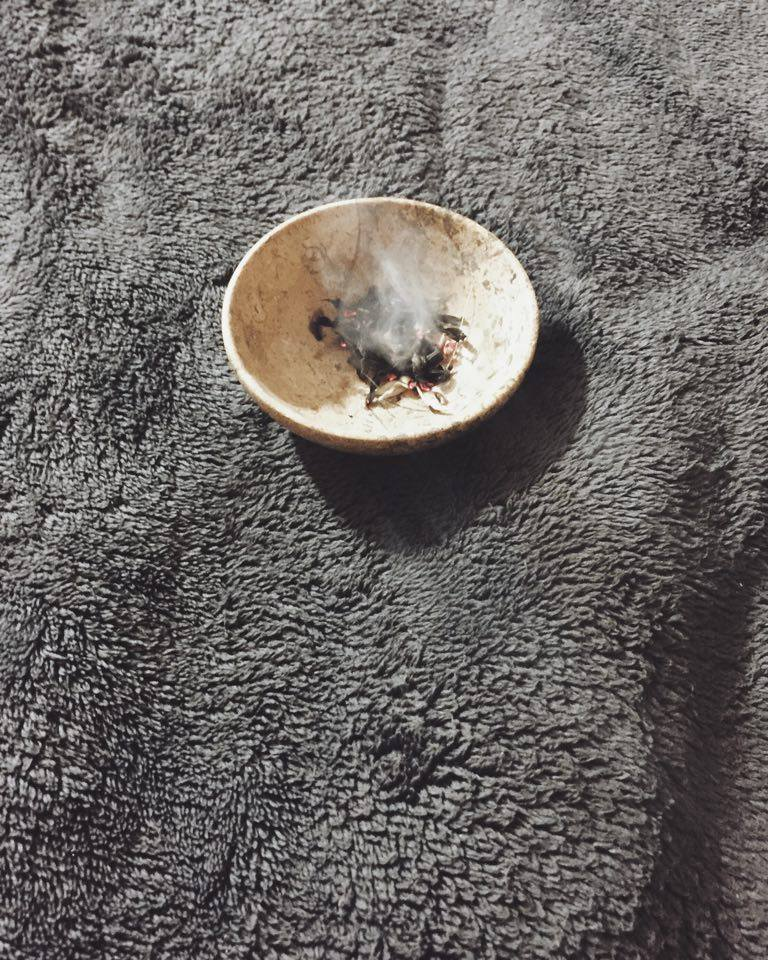 We burned sage during my session while listening to some soft Celtic flute tunes. Very relaxing.