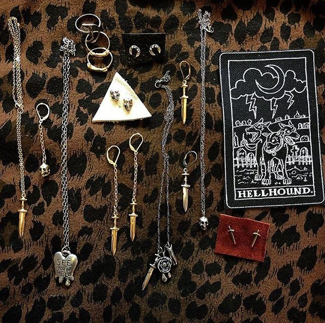 Our next vendor spotlight is @hellhoundjewelry 🤘🏻 Philly-based, oh so badass, and rumor has it she's dropping off a package of goodies for our first 50 guests this weekend. See you at @wowphilly on Sunday! 2-10 pm.