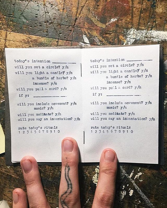 We can't wait to visit @atenderwitch's table this weekend! She's been teasing all sorts of magical goodies for the modern witch, including this intention setting workbook and a zine on using coffee in your daily practice. See you Sunday at @wowphilly! 2-10 pm.
