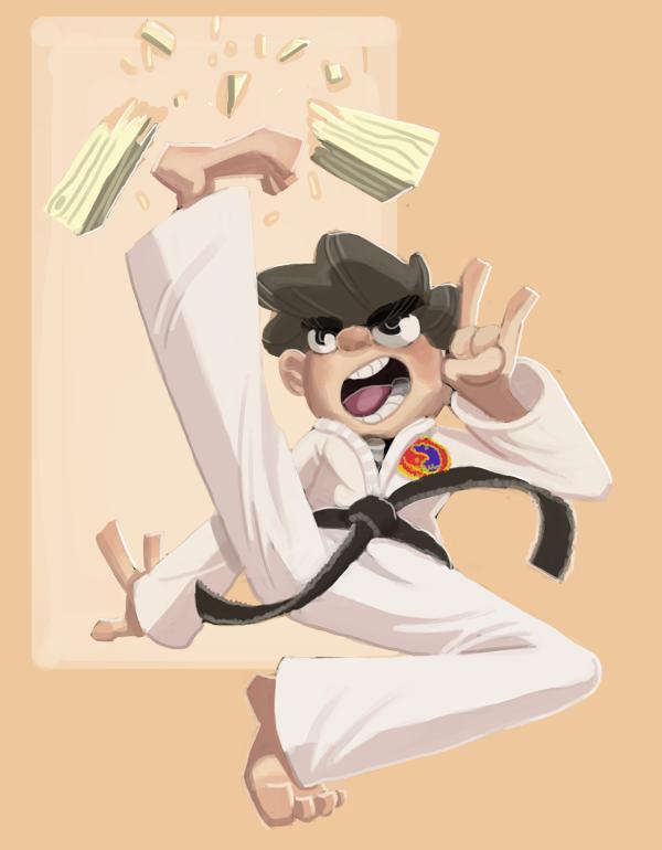 Karate Time, digital painting 2015