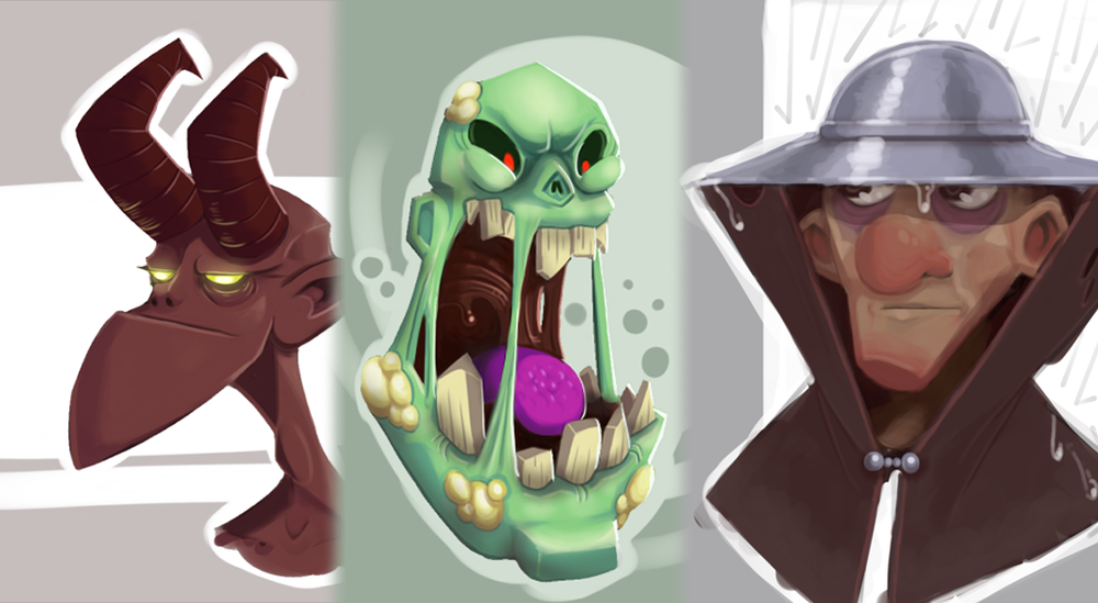 Assorted Fantasy Busts, 2016