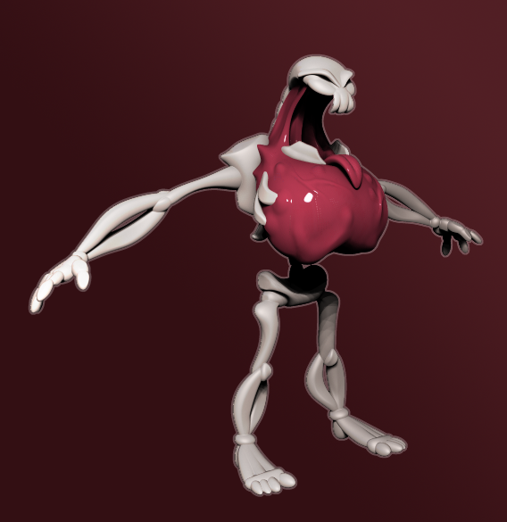 """Sksleton Sculpt based on Concept Art by """"Choboart"""" on tumblr.com"""
