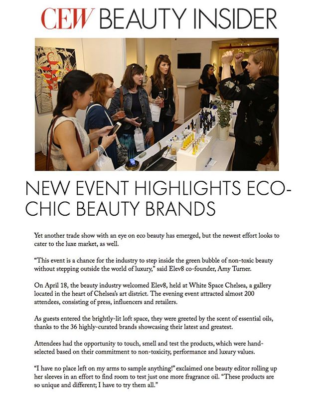 Huge thank you to #CosmeticExecutiveWomen for the amazing support in this article. This was the inaugural #elev8showny and it wouldn't have been the success it was without the most amazing line up of brands, and the support of an amazingly diverse team of visionaries. We can't wait to improve on it for our next event! #thankyou #gratitude