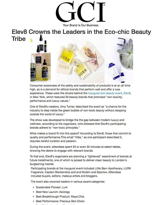 Thank you so much GCI magazine for this wonderful post show press and featuring @lurkbeauty @littlebarnapothecary and @captainblankenship in picture! #thankful #beautyrevolution