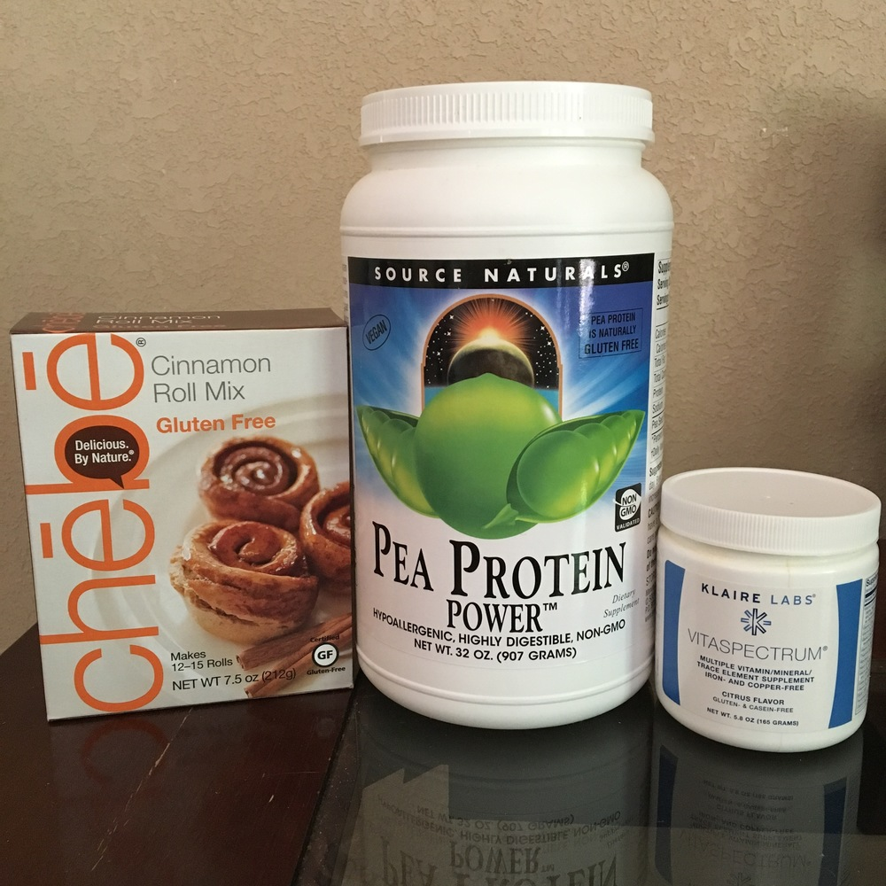 Everything you need for protein cinnamon rolls