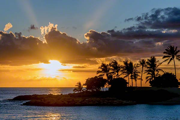 sunset in oahu hawaii, tropical island photography, ccphotomagic, christina catherine photography
