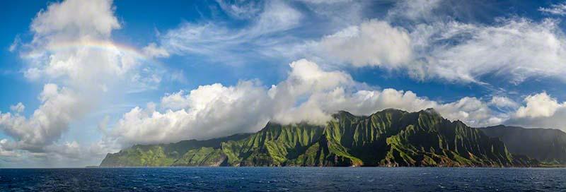 Kauai, Hawaii, Na Pali coast, rainblow, ocean photography