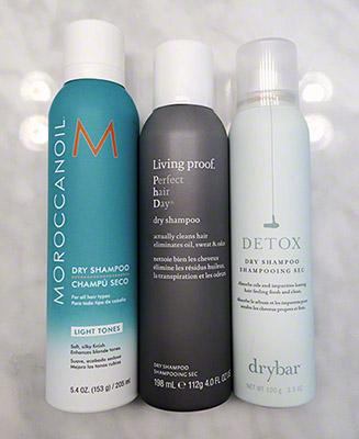 MoroccanOil Dry Shampoo, Living Proof Dry Shampoo, DryBar Detox Dry Shampoo