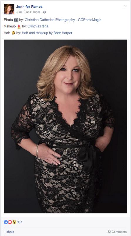 woman in black lace dress professional portrait for women