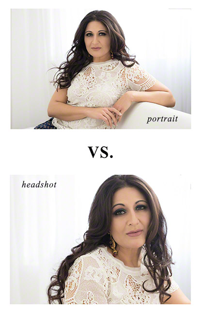 what is the difference between a portrait and a headshot