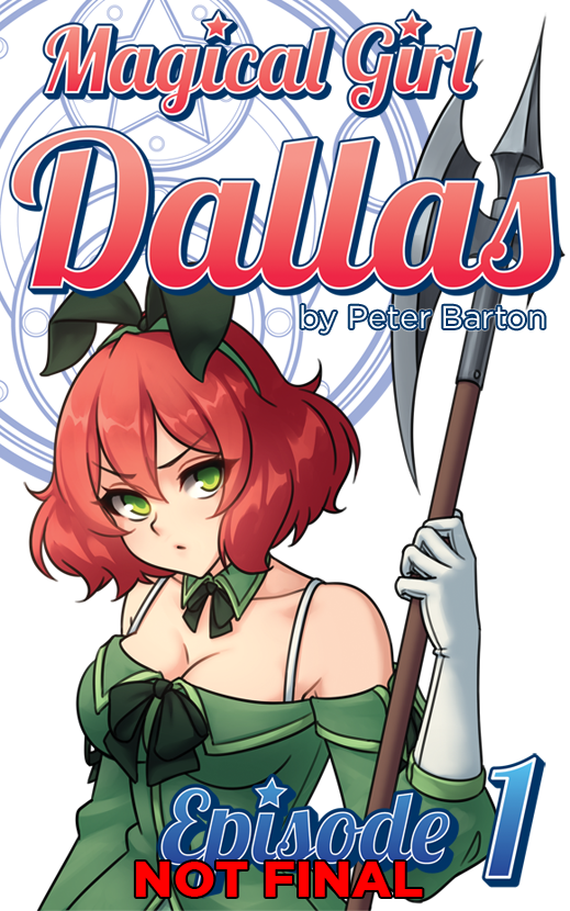 We're going to be relaunching the Magical Girl Dallas stories in preparation for the release of Episode 3's digital release! Each episode will be available by themselves over on Amazon for $1 each. Because of this change, new covers are being made for each episode, with subsequent episodes following the same design. Here's a sneak peak at what to expect!
