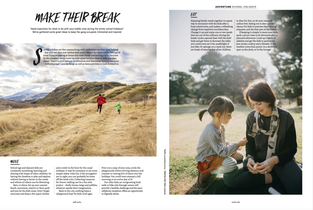 - Nadia Magazine June/July 2018Inspo for the school holidays to keep the gang occupied, interested and inspired.Words by Holly Jean Brooker