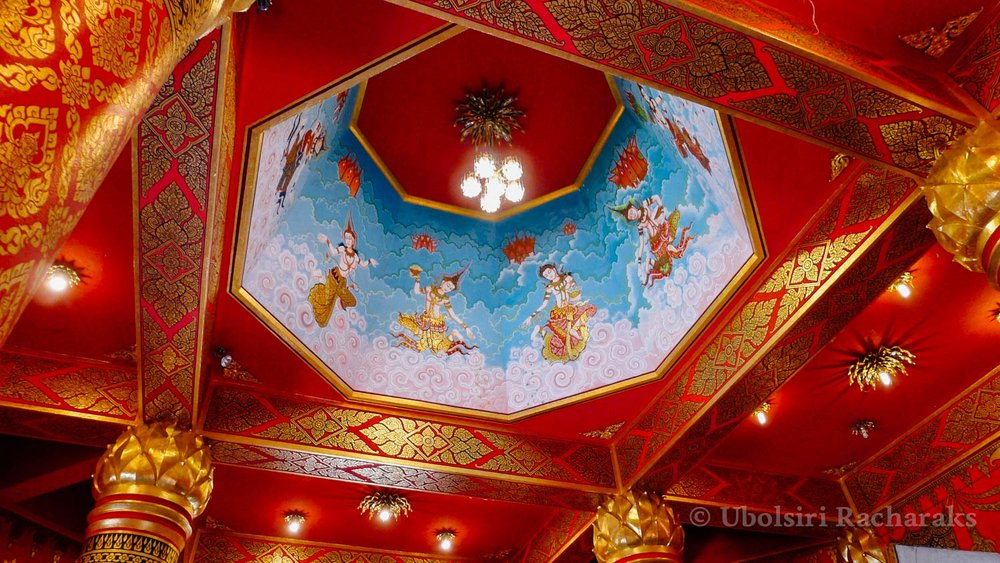 Ceiling of Temple at Wat Neramit Wipatsana