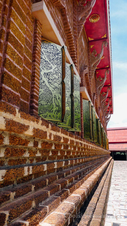 Exterior Details of Hall at Wat Neramit Wipatsana