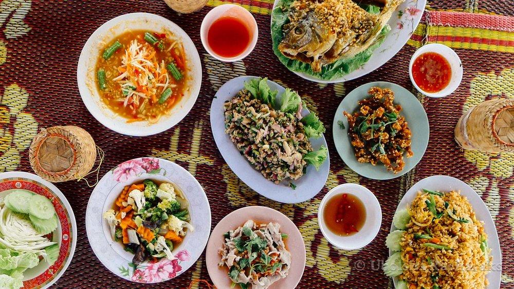 Thai Food at Huai Krathing Reservoir