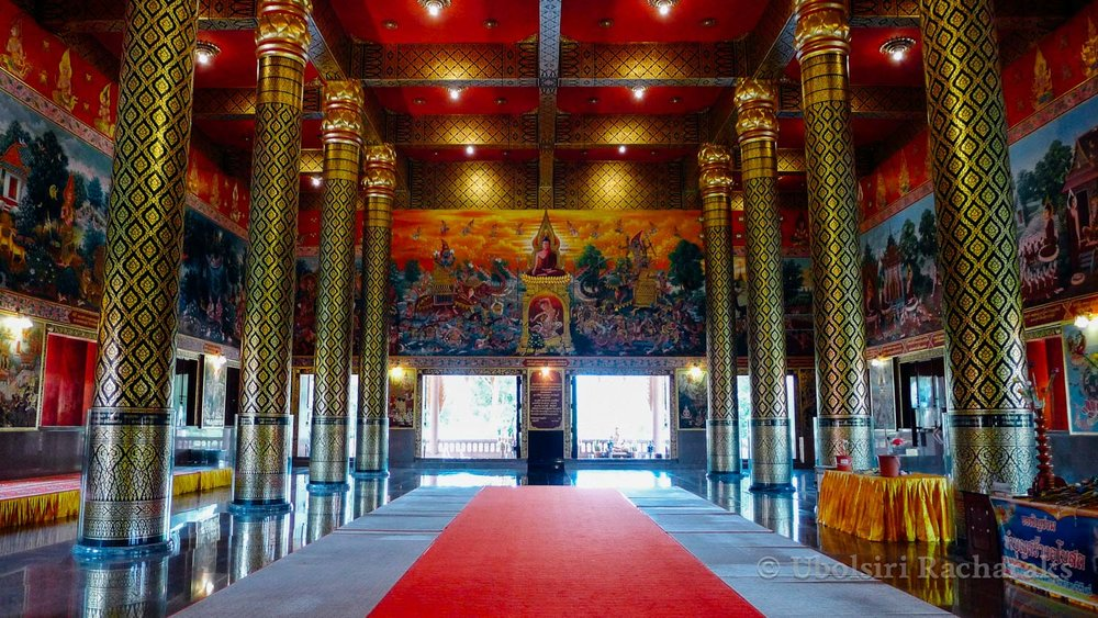 Interior of Hall at Wat Neramit Wipatsana