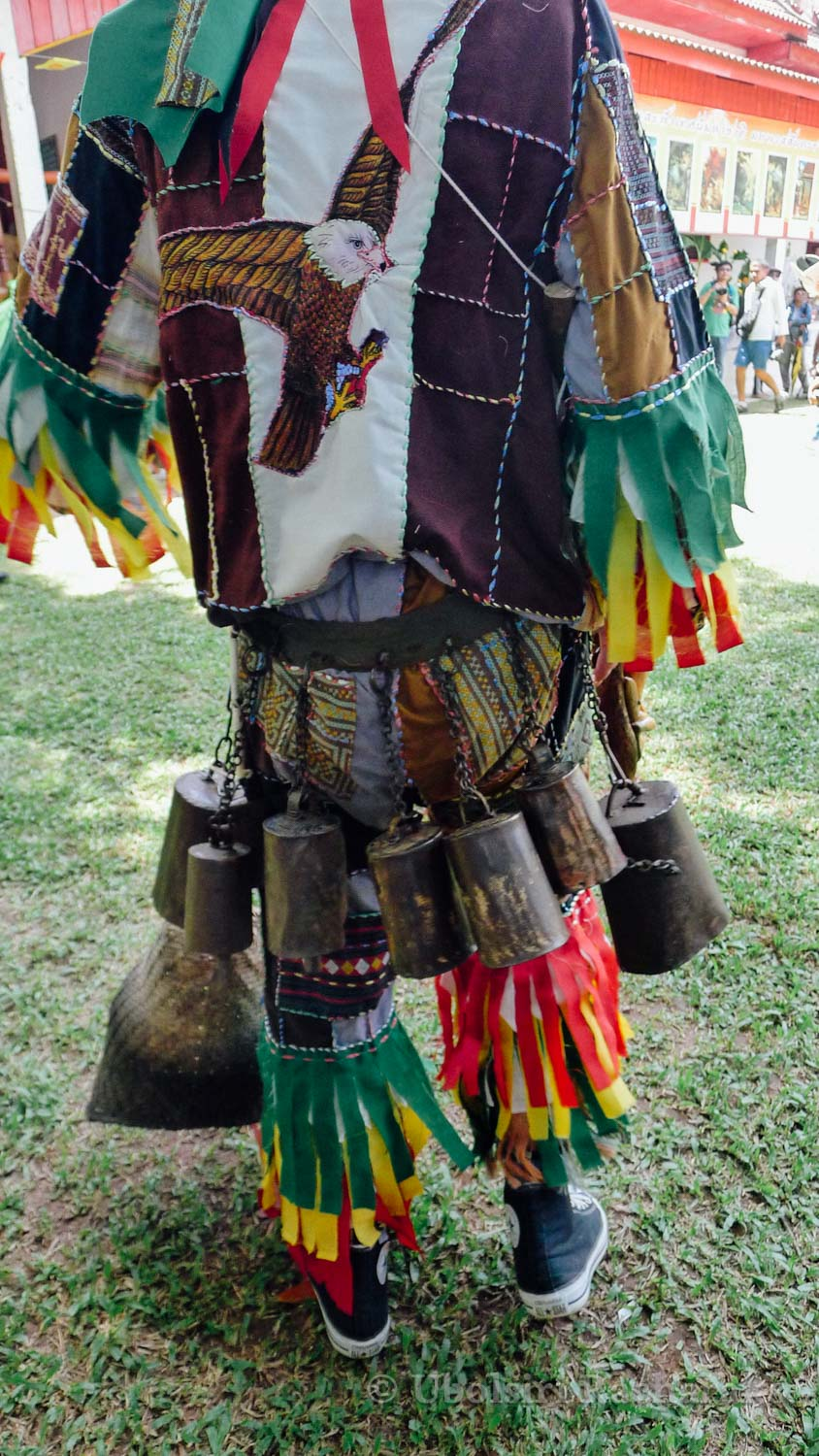 Backside of Phi Tha Khon Costume