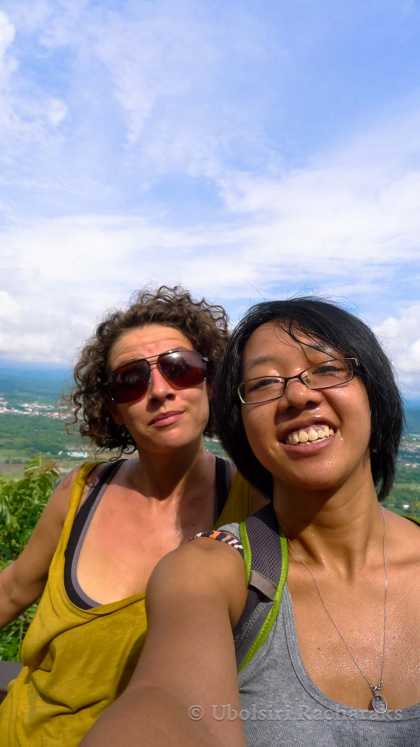 Selfie at the top of Phu Bo Bit National Park