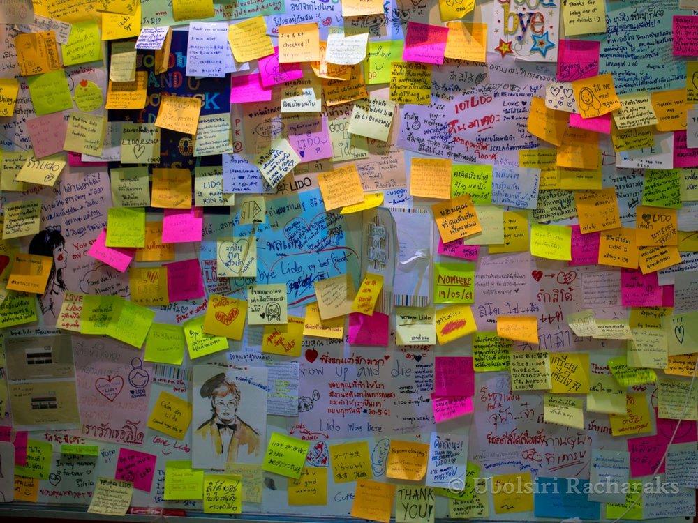 Lido Farewell Message Board