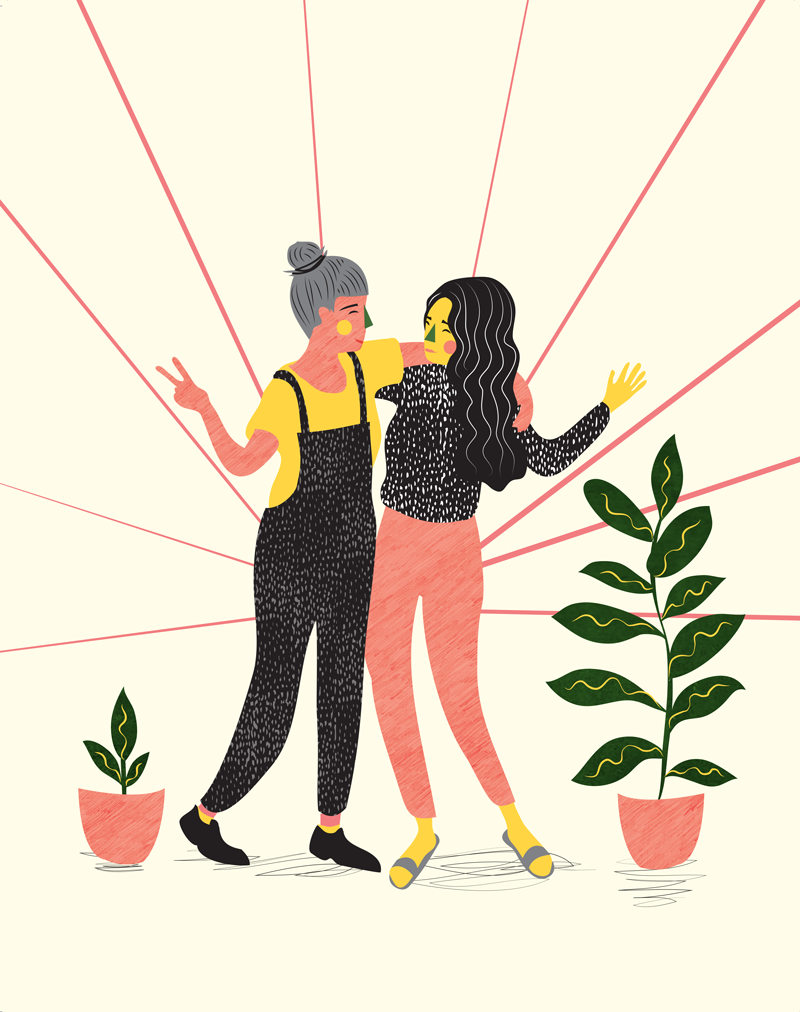 Share The Happiness - Full page illustration for Breathe Magazine