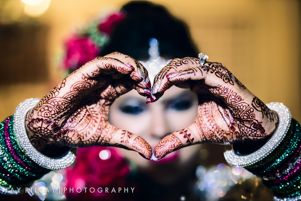 indian heart hands at wedding