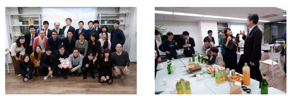 2019年3月25日に行われた寄付者の方々とのイベントの様子