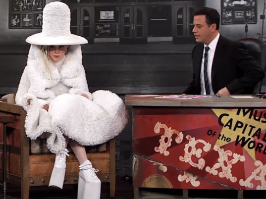 Lady Gaga on Jimmy Kimmel