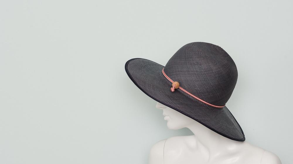 Folding panama sun hat (ocean)