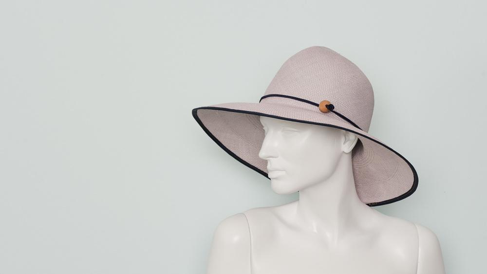 Folding panama sun hat (iris)
