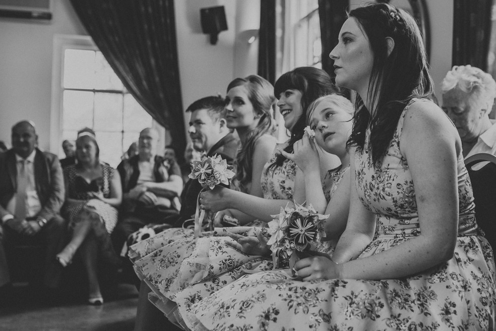 crying bridesmaid hertfordshire registry office