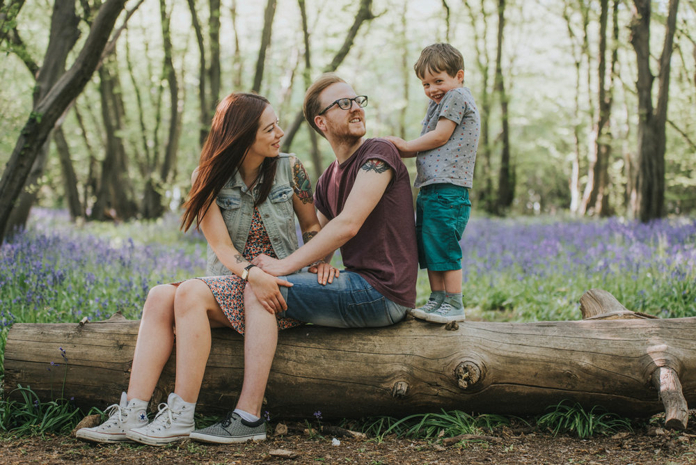 Cute family portrait in hertfordshire