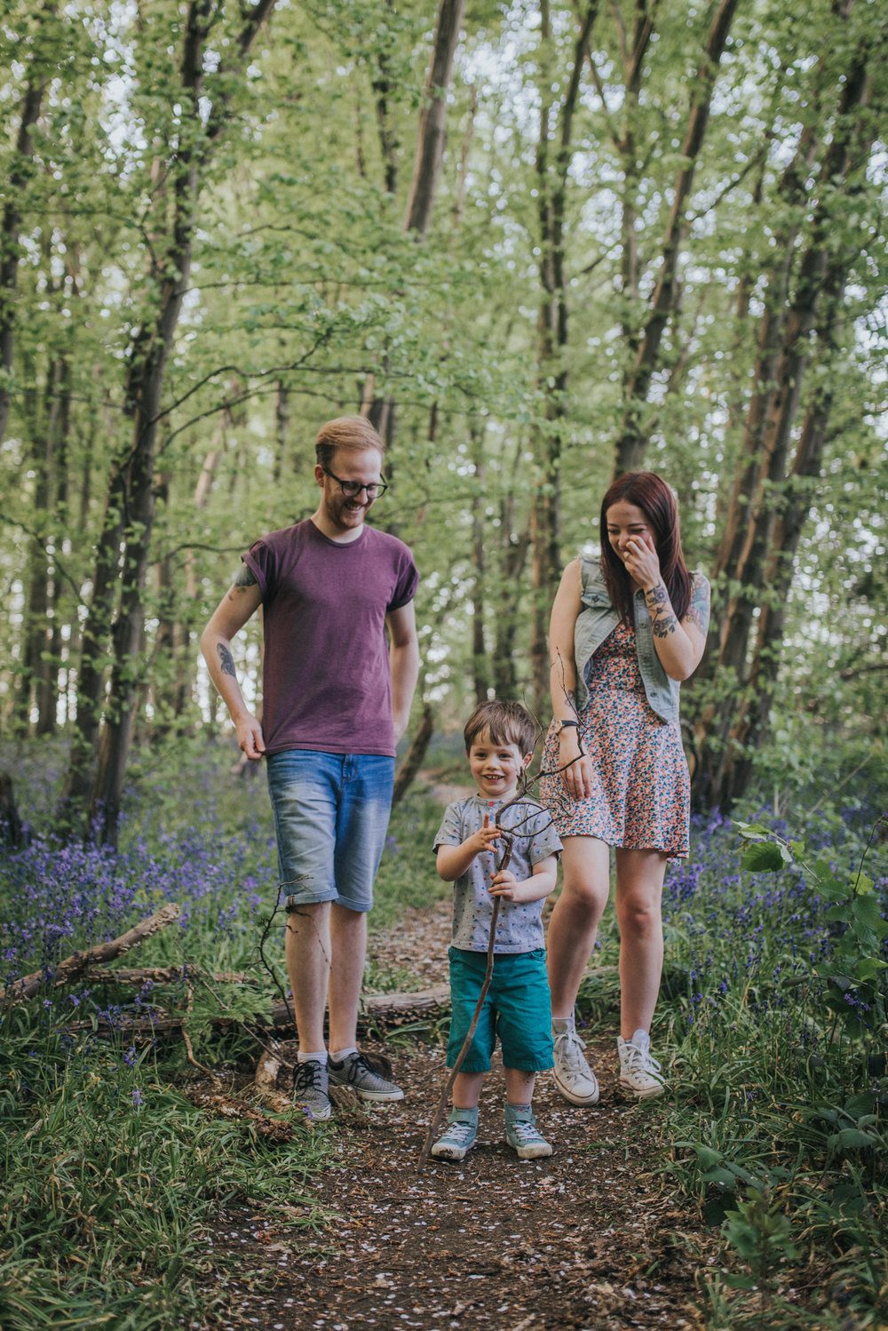 Fun family photoshoot at Heartwood Forest in St Albans , Hertfordshire