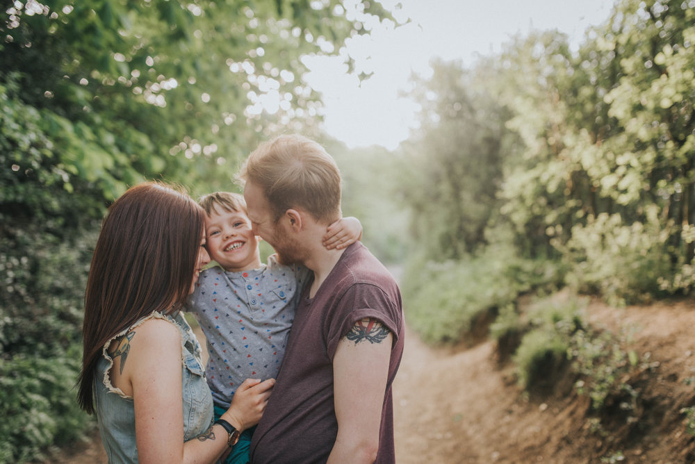 Fun family photoshoot at Heartwood Forest in St Albans, Hertfordshire