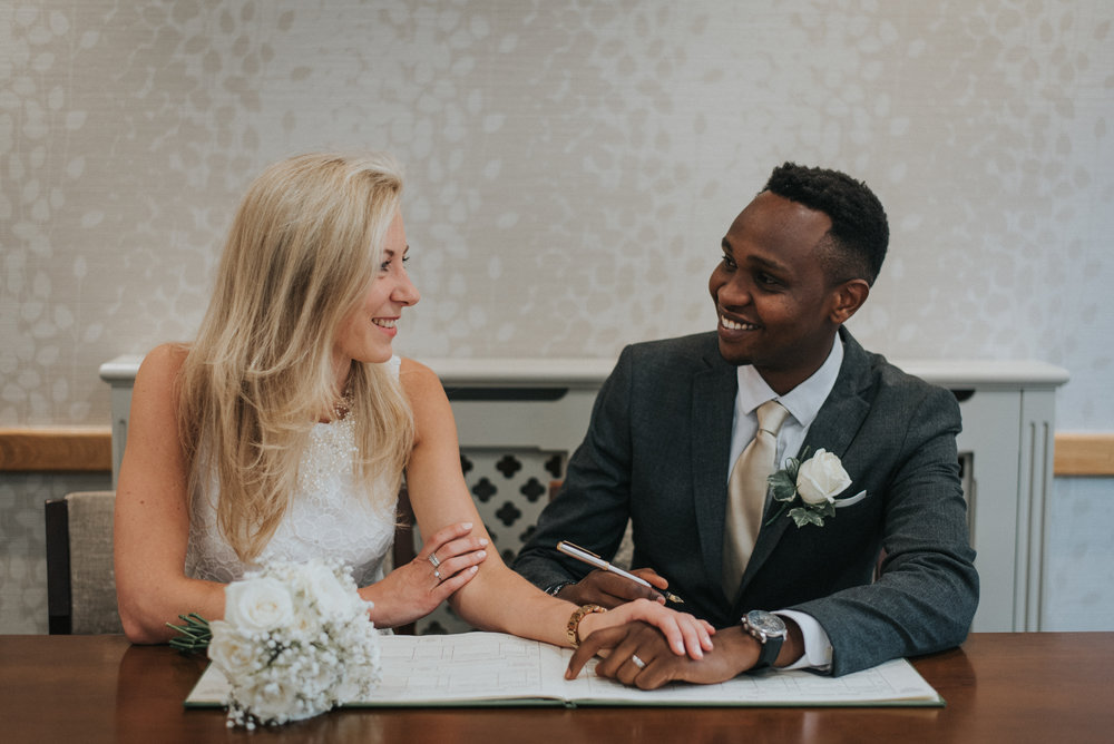Couple registering as mr & mrs in bromley