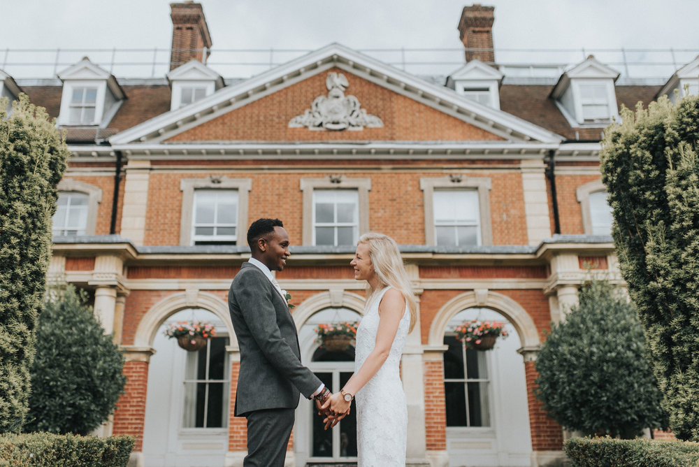 Couple portrait in Bromley registry office