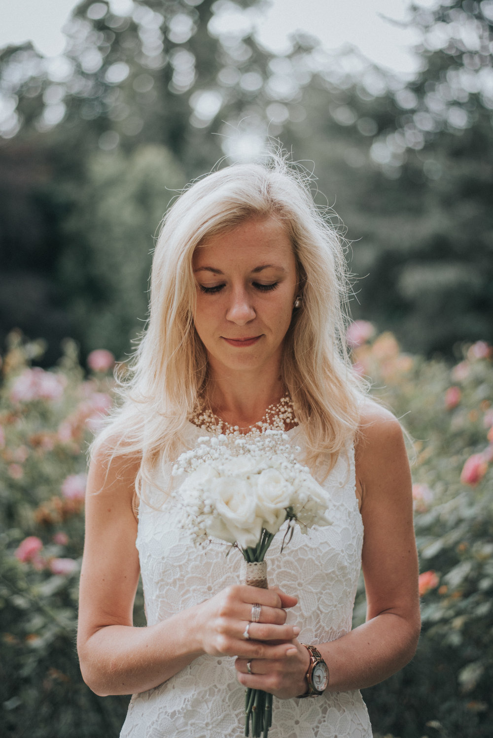 Portrait of the bride at bromley registry hall