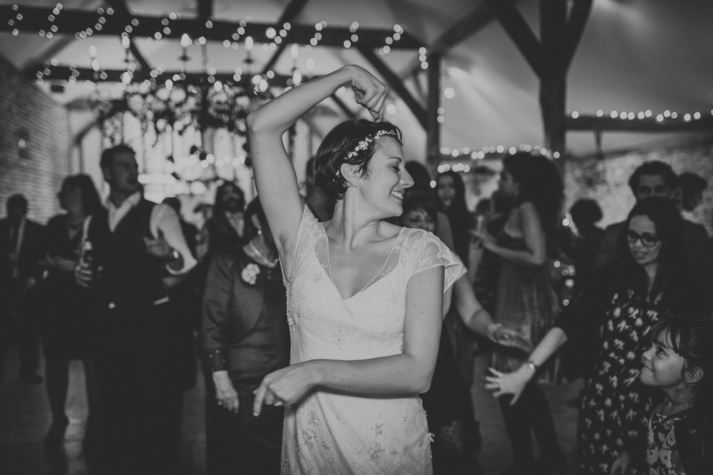 Creative Sussex christmas wedding photography